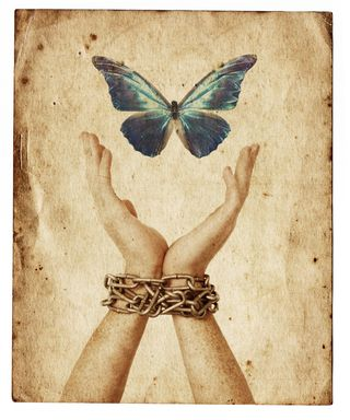 Butterfly with  chain hands